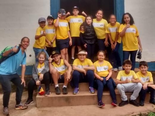 Visita dos alunos do 4°ano à Fazenda Santa Maria do Monjolinho - São Carlos